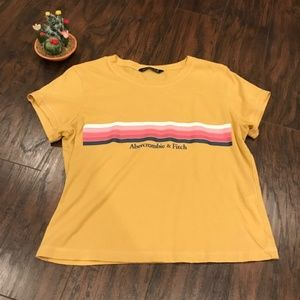 Abercombie & Fitch | mustard yellow cropped tee